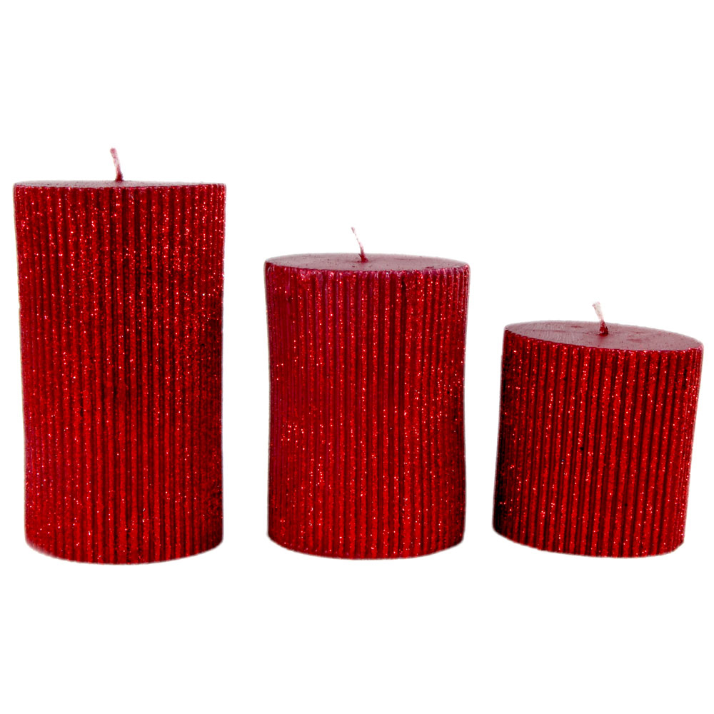 3 piece pillar shaped candle