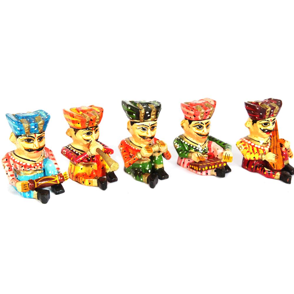 Wooden Handicrafts 5 Pc Musician Set As Showpiece Online