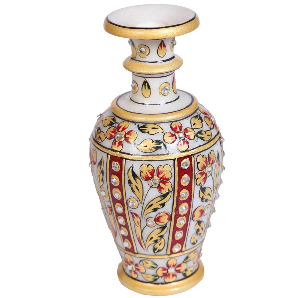 Traditional Marble Meenakari Handicrafts Flower Vase Online