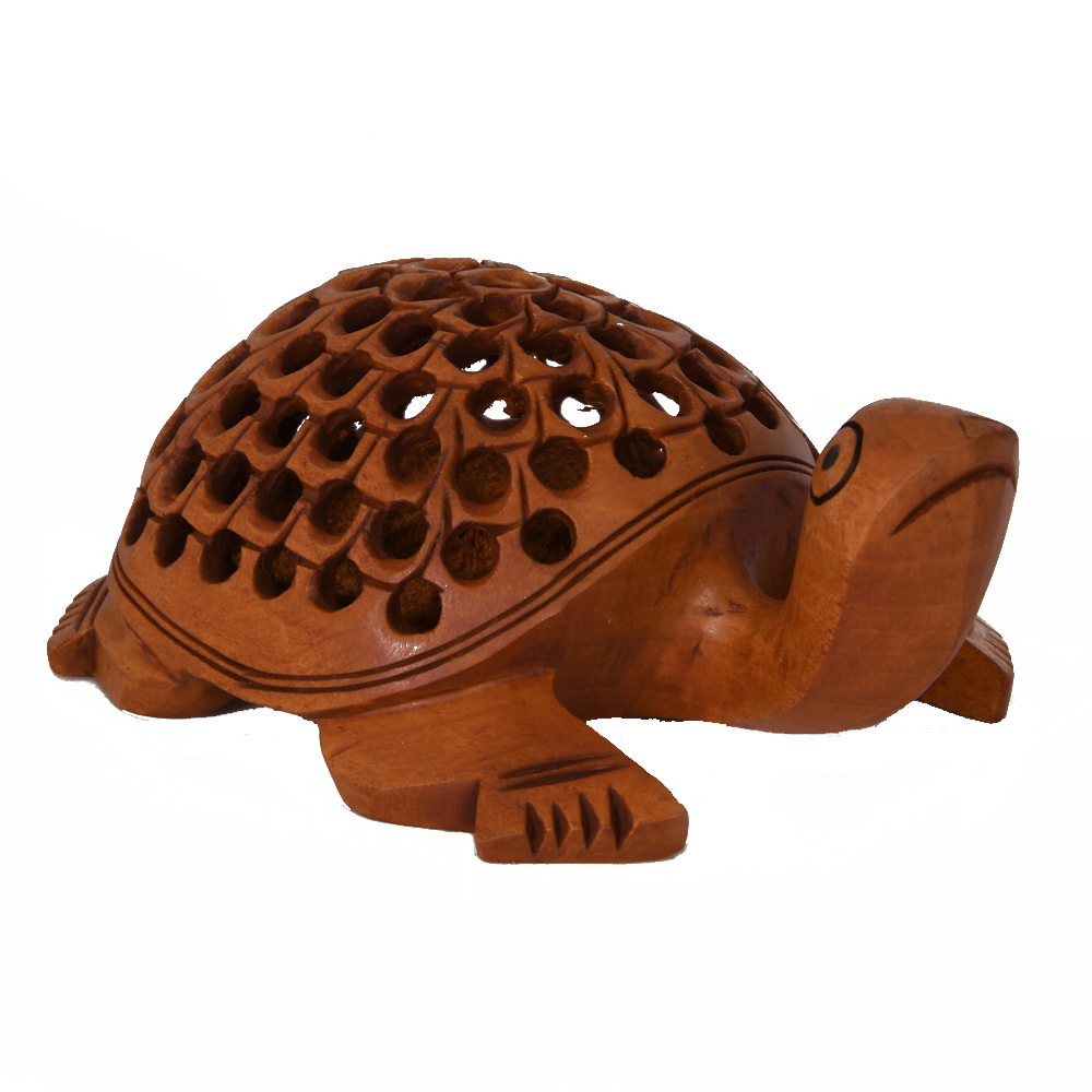 A Beautiful & Elegant Handmade Tortoise Made From The Best Quality Wood