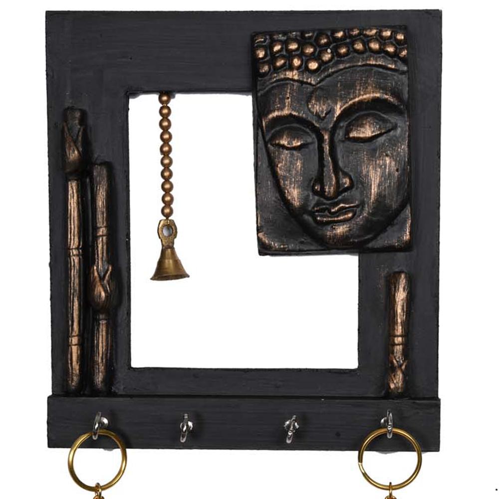 Buddha key hanger with a stunning black finish
