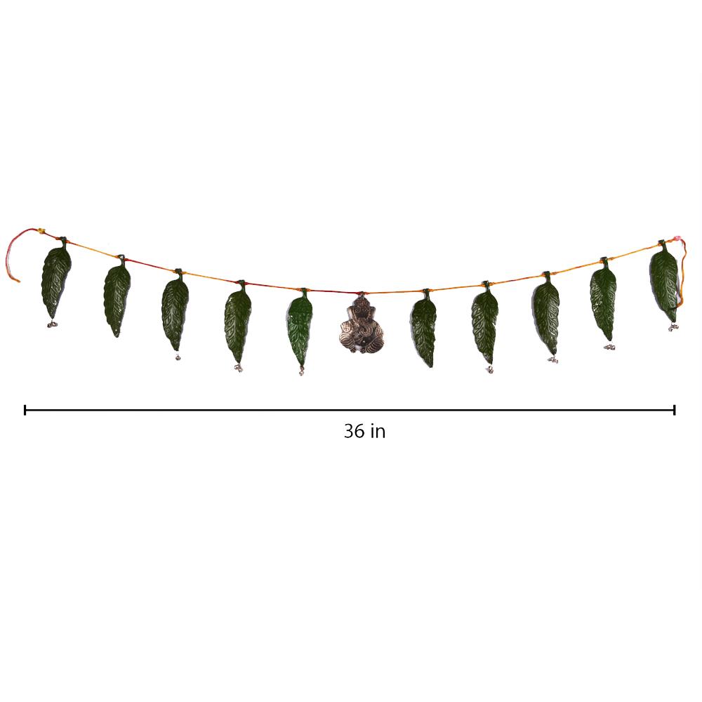 Oxidised metal leaf bandarwal