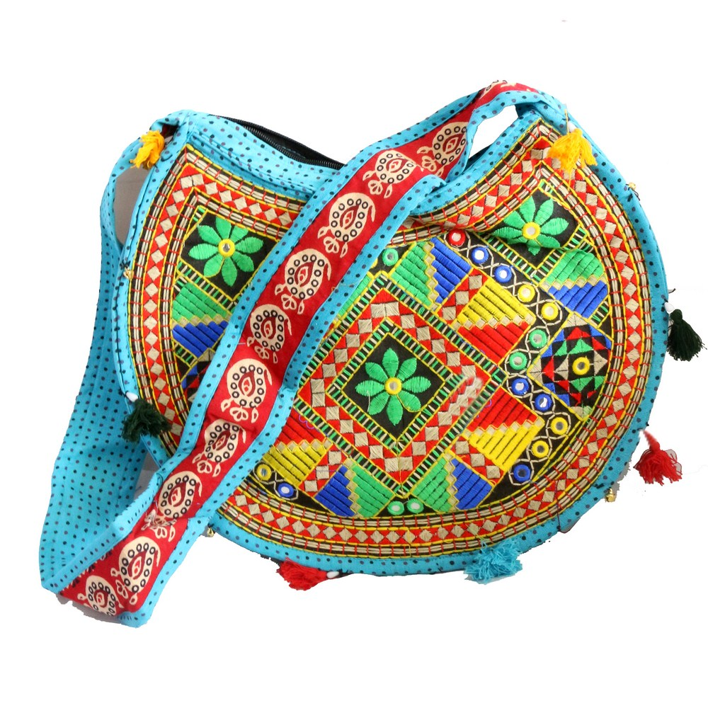 Circular Boho bag with long handle