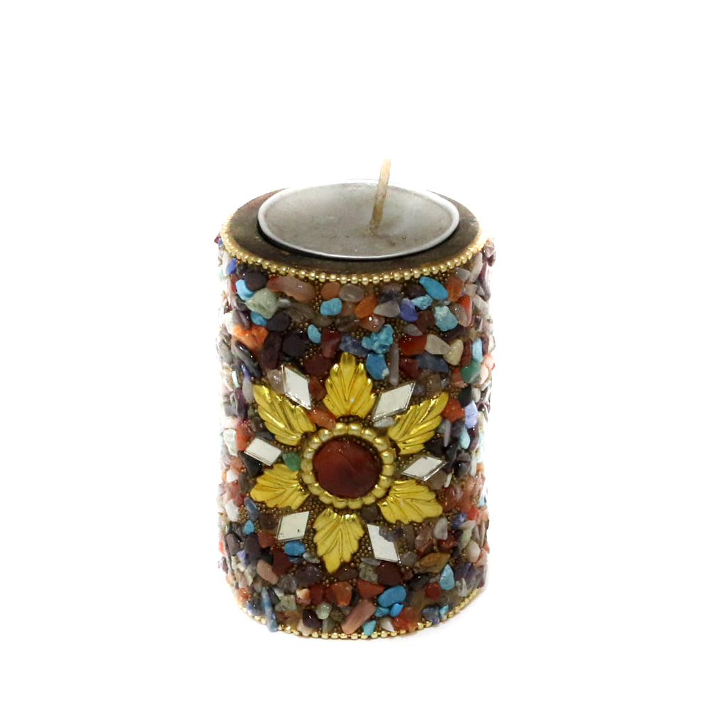 Colorfully Mottled T-Light Candle stand