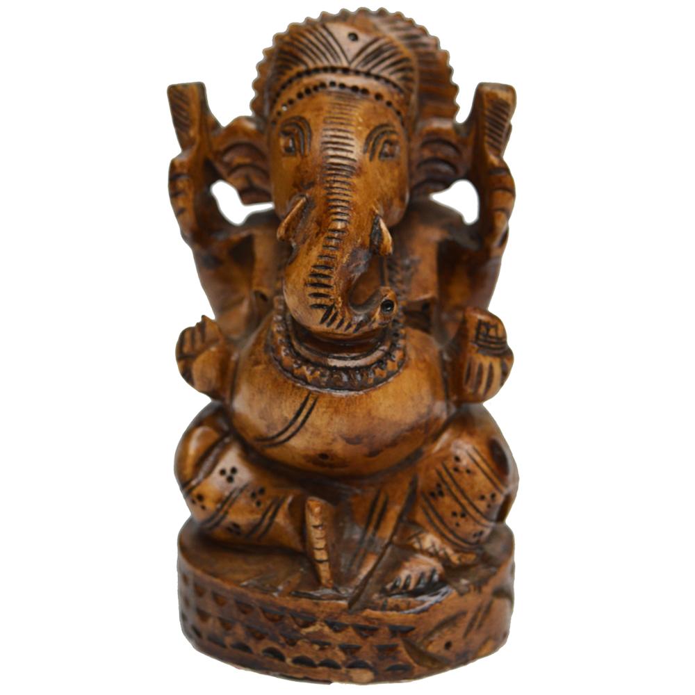 Decorative Lord Ganesha Idol in Wood