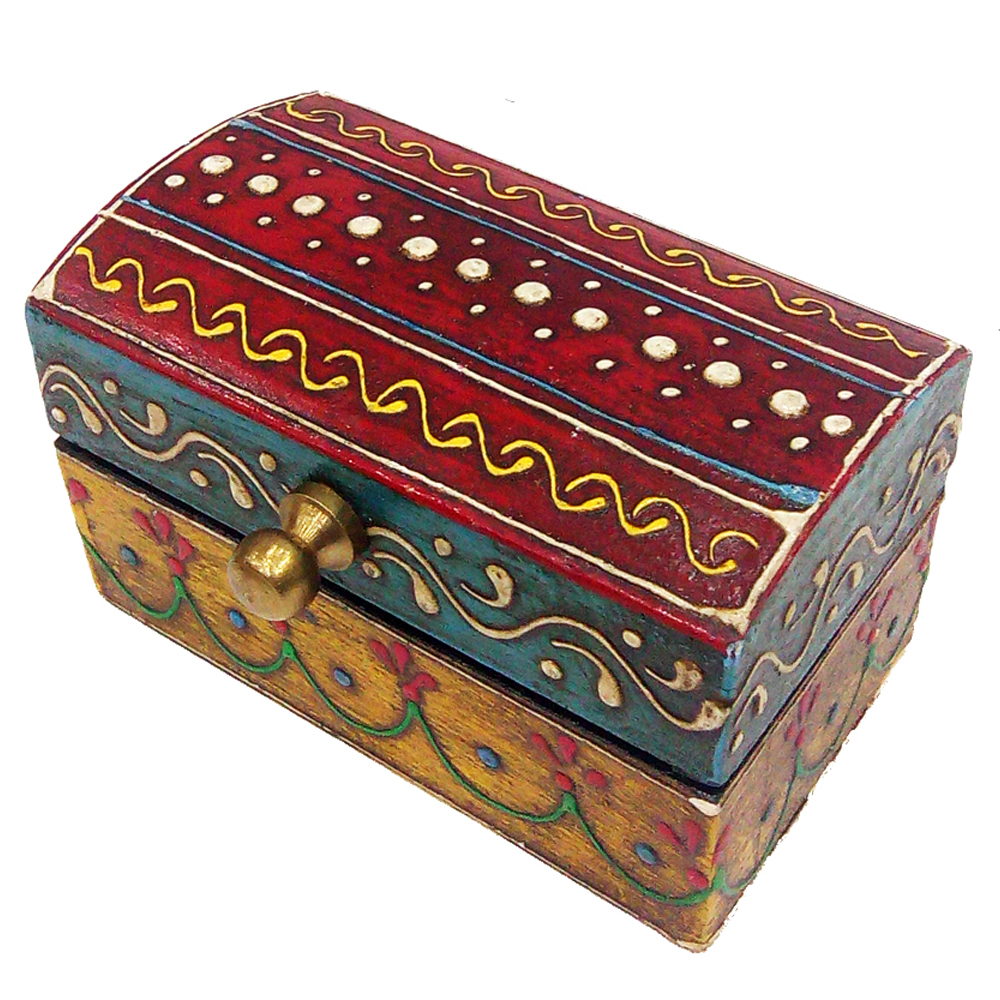 Multicolor Wooden Embossed Box for Wedding Favors