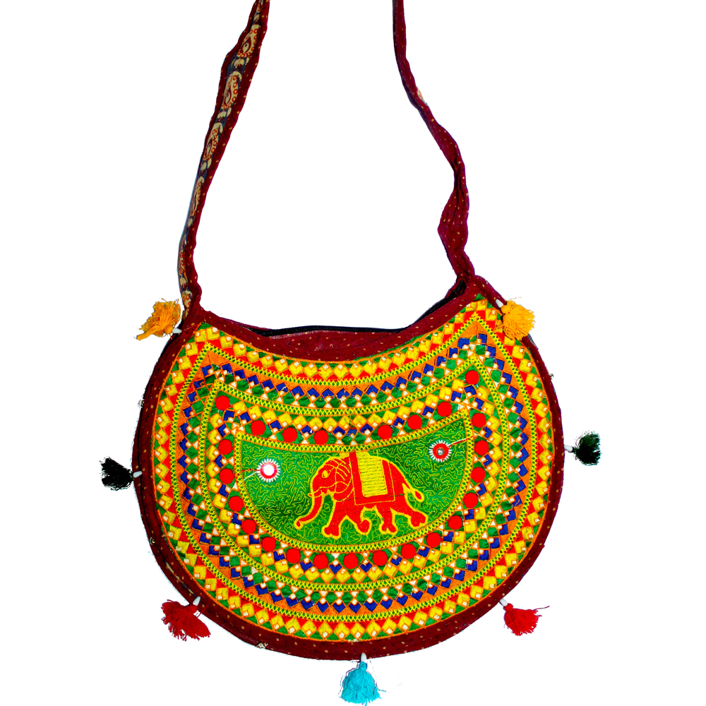 Designer bag with multicolour design