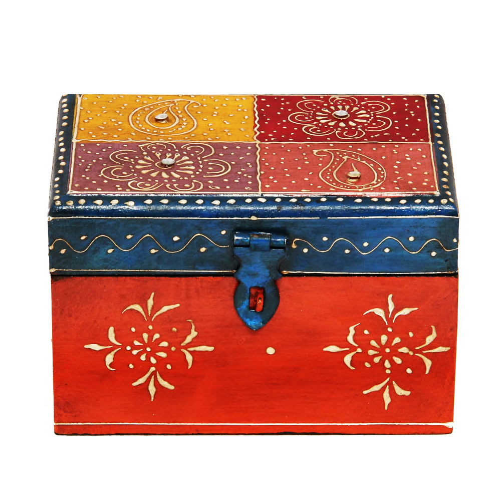 Handmade Multicolor Embossed Wooden Box  - Handmade Multicolor Embossed Wooden Box return gift