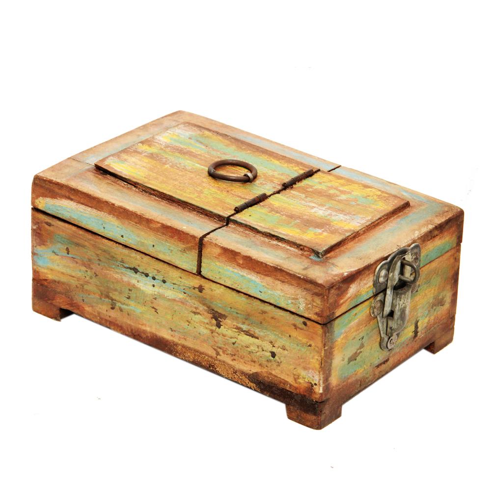 Antique Wooden Makeup Box  - Antique Wooden Makeup Box return gift