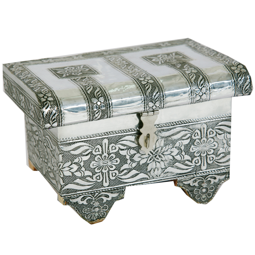 Floral Design Oxidized Jewellery Box  - Floral Design Oxidized Jewellery Box Handicraft Items