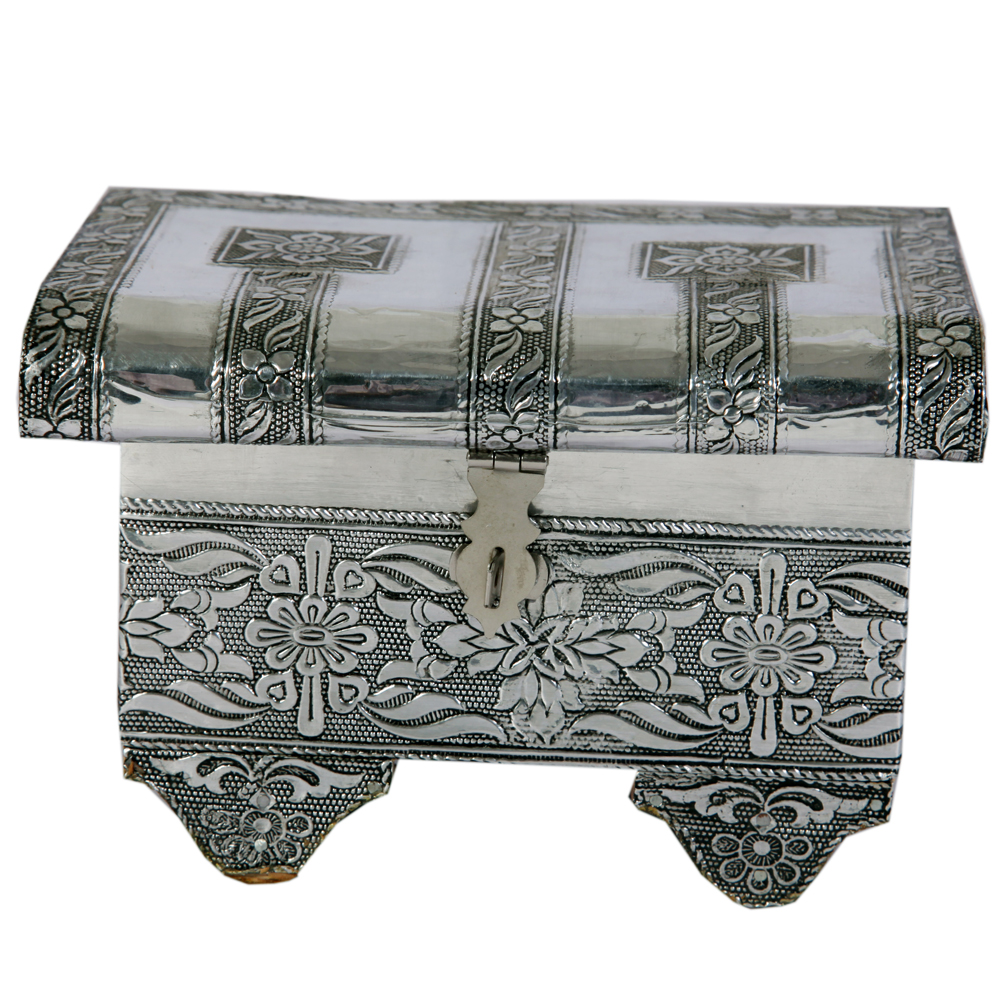 Floral Design Oxidized Jewellery Box  - Floral Design Oxidized Jewellery Box return gifts