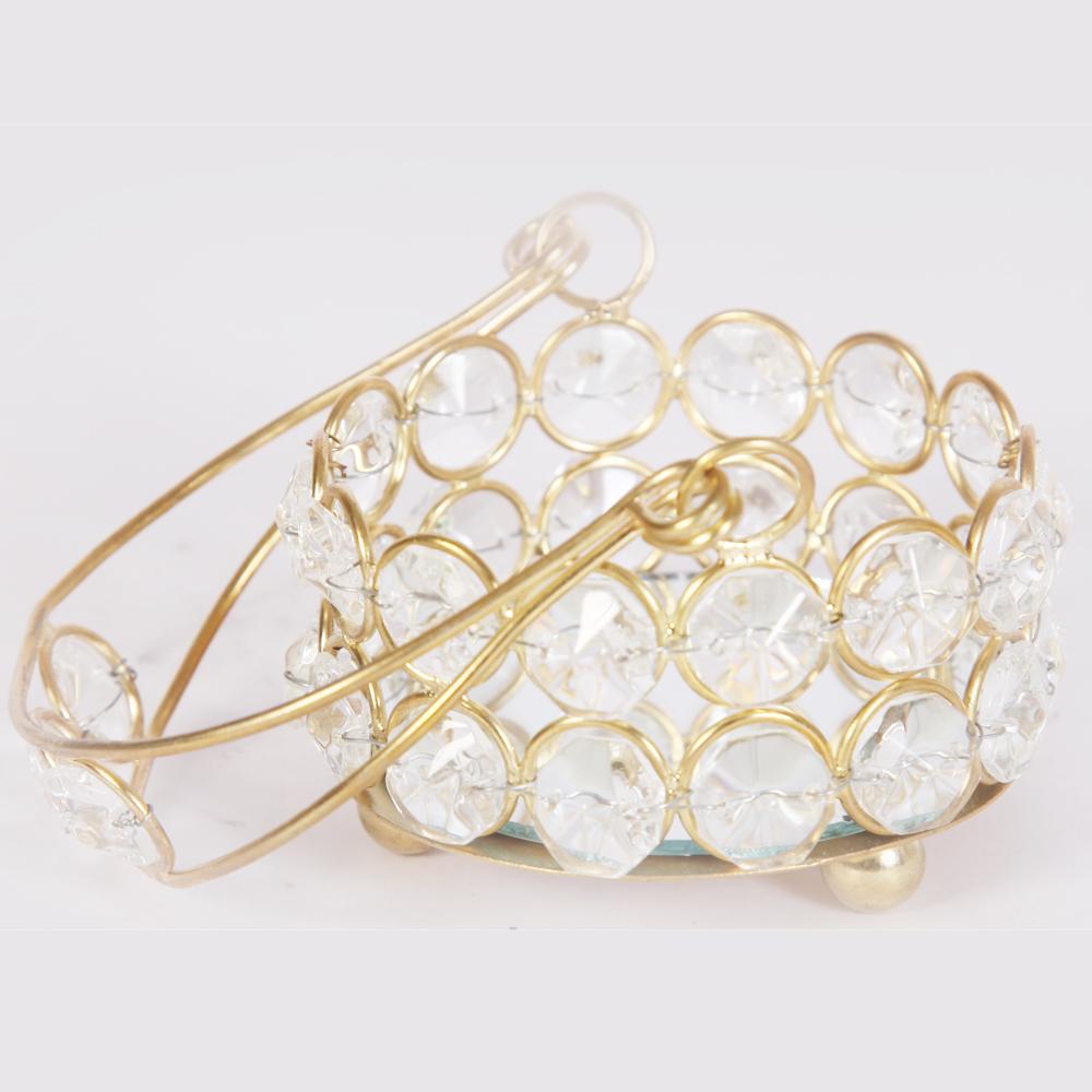Designer Crystal Tokri with Metal Handle  - Designer Crystal Tokri with Metal Handle return gifts