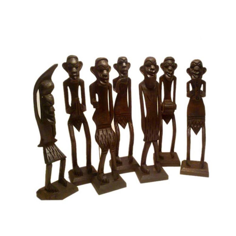 Wooden Made Tribal Decorative Set - wooden decorative set