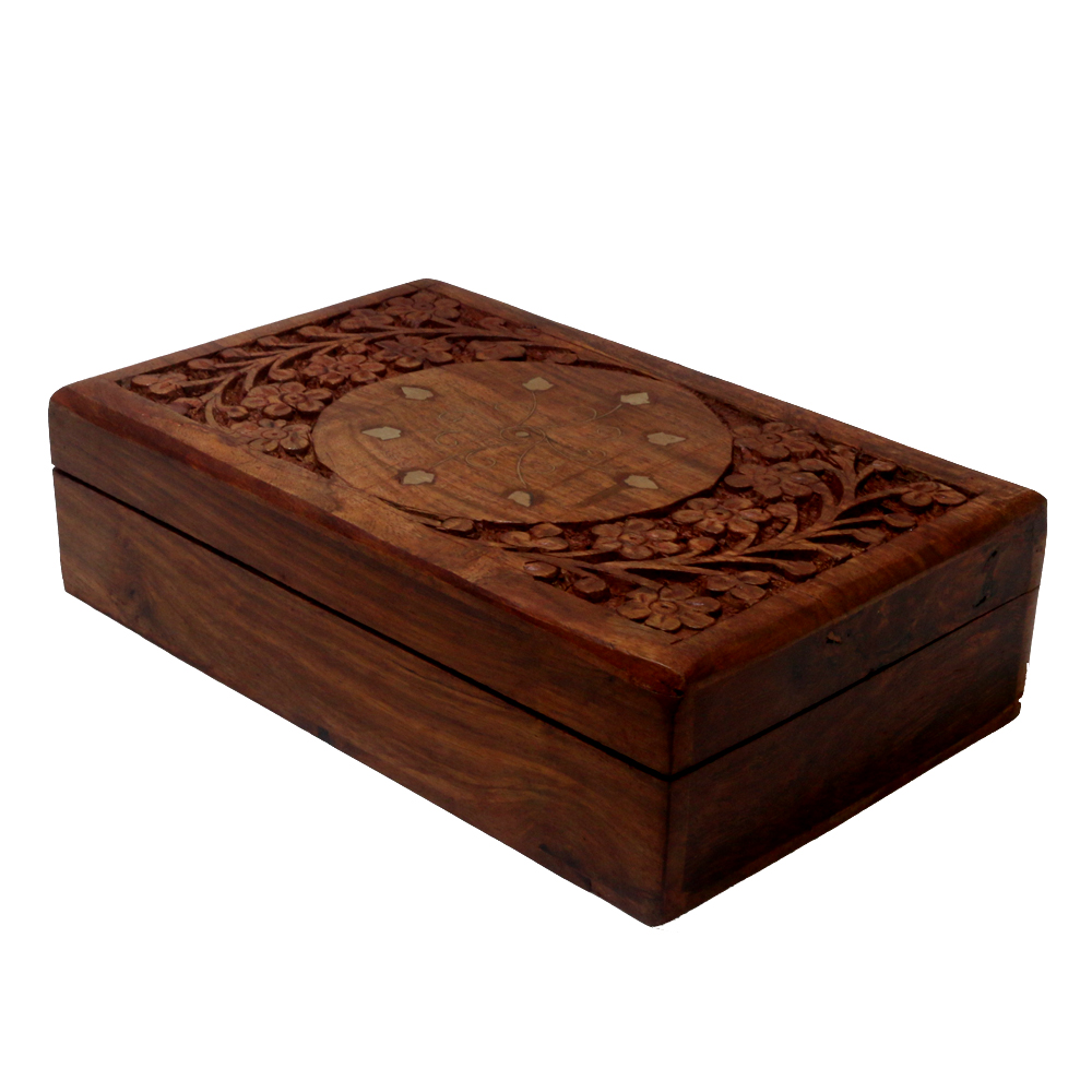 Rich hand crafted box made of finest quality wood - Rich hand crafted box made of finest quality wood BH-0612-1