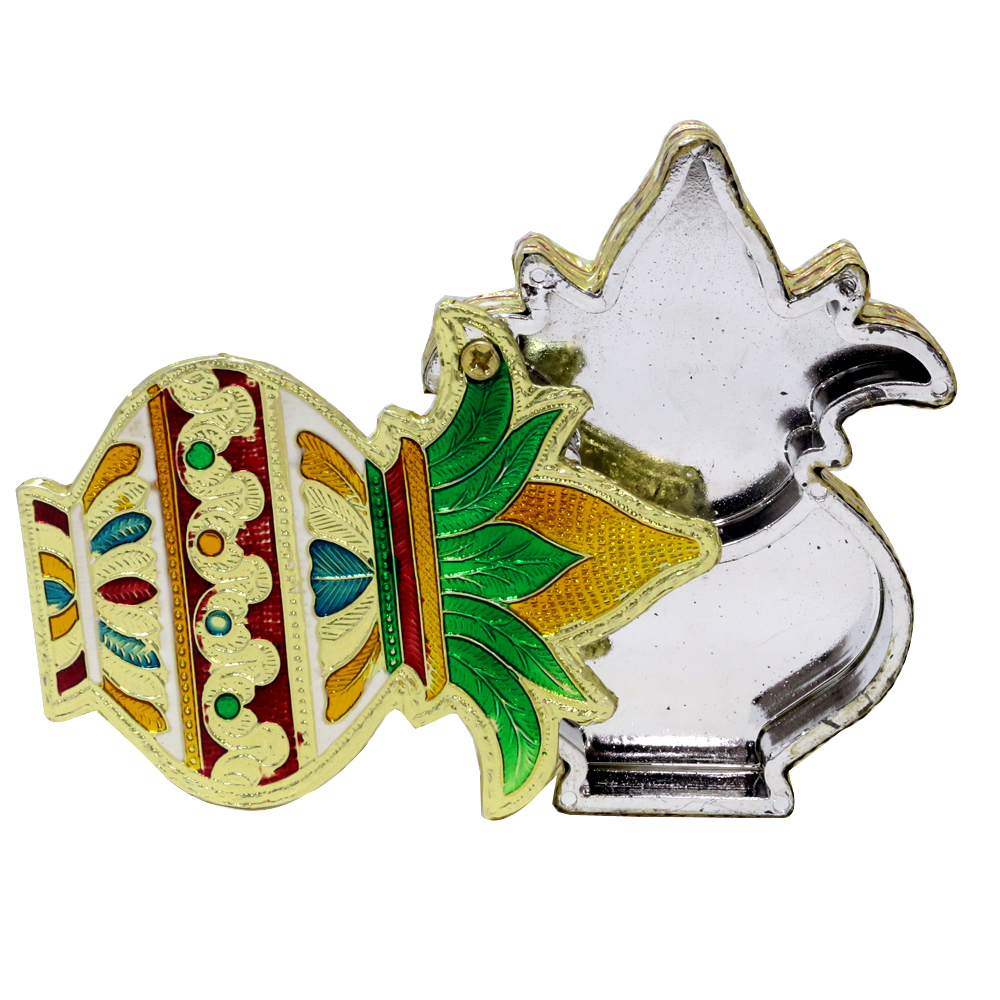 Kalash shaped wooden small size dryfruit box with meenakari design. - Kalash shaped wooden small size dryfruit box with meenakari design BH-0636-2