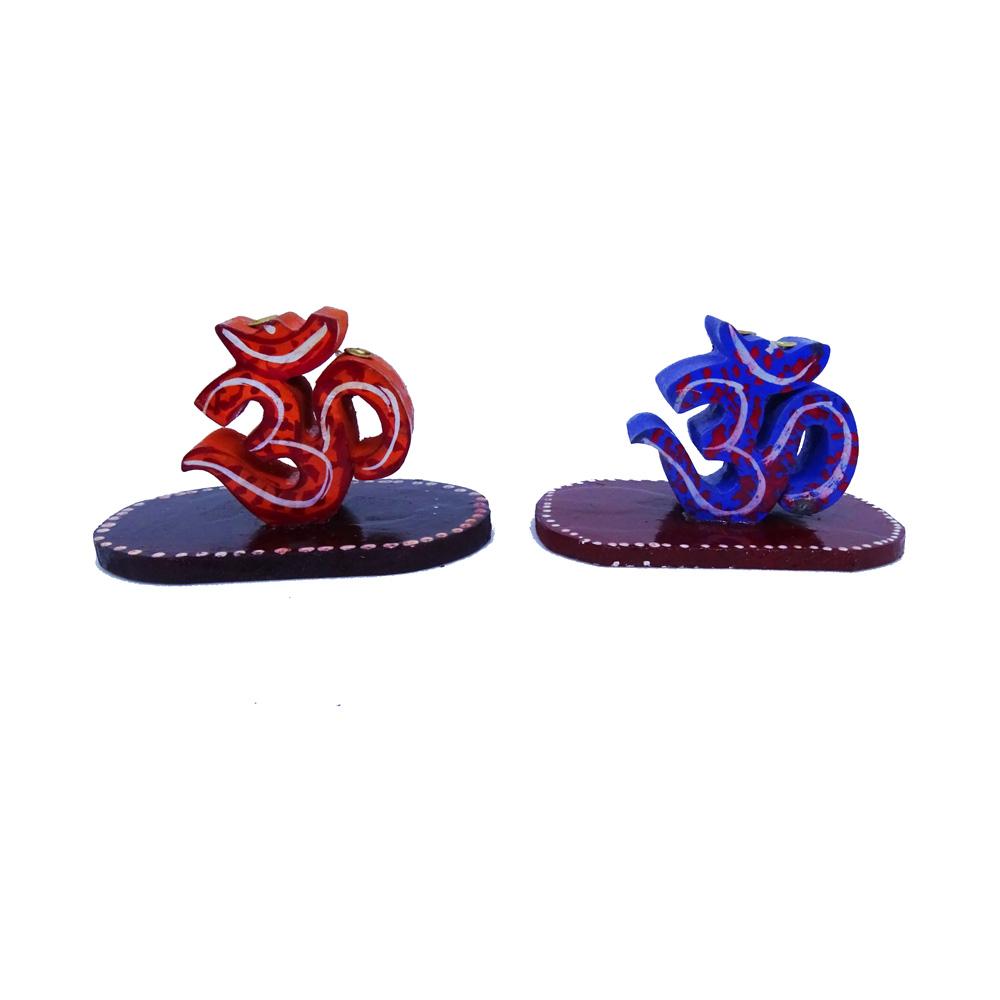 Holistic & Colourful Om Incense Stick Holder Pair - Boontoon Om Incense Stick Holder