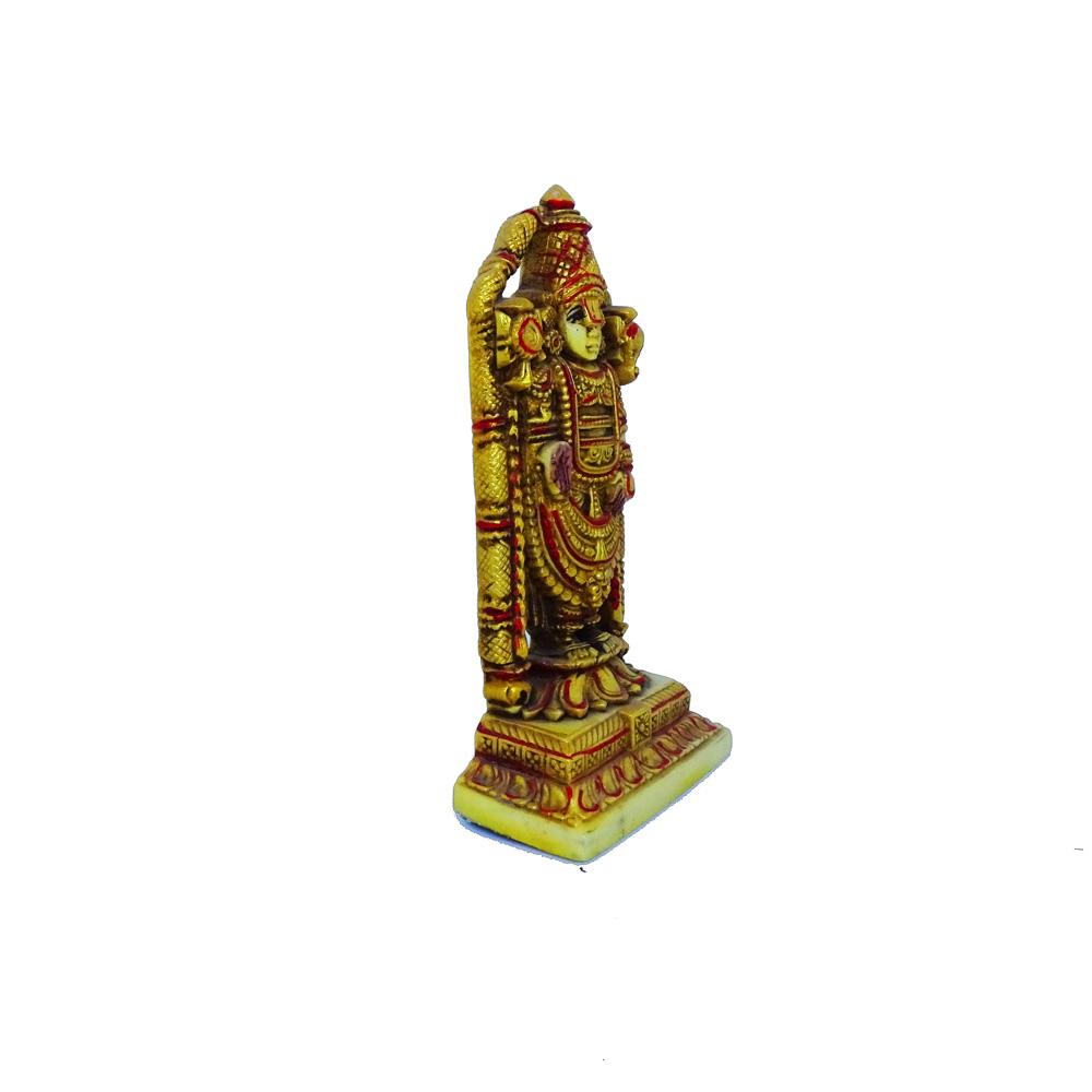 Bronzy Tirupati Balaji Idol Made Of Resin - Boontoon tirupati balaji moorti