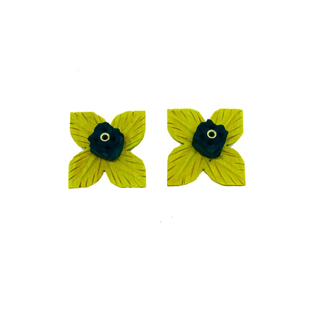 Flower Petal Shaped Green Incense Stick Holder - Boontoon Flower Incense Stick Holder
