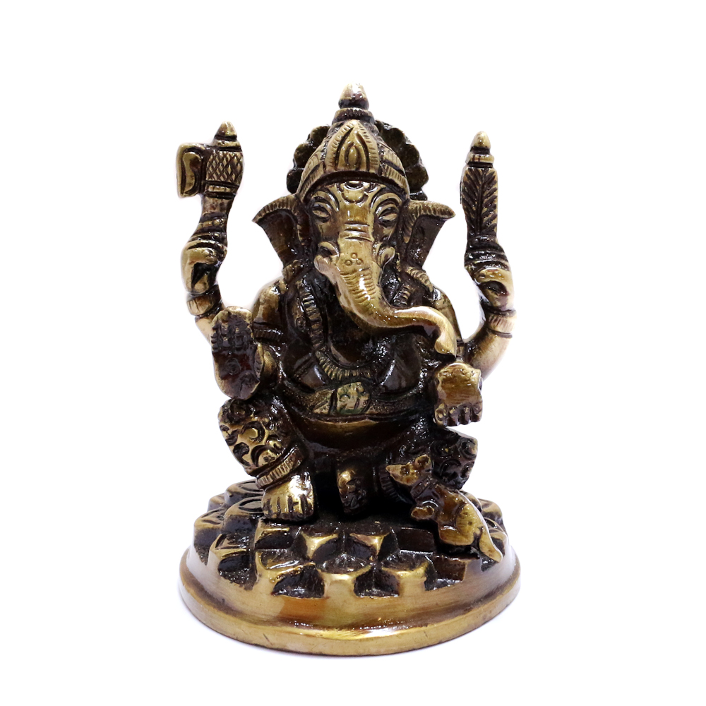 Ganesh Ji Made Of Brass For Decoration - Boontoon brass ganesh4