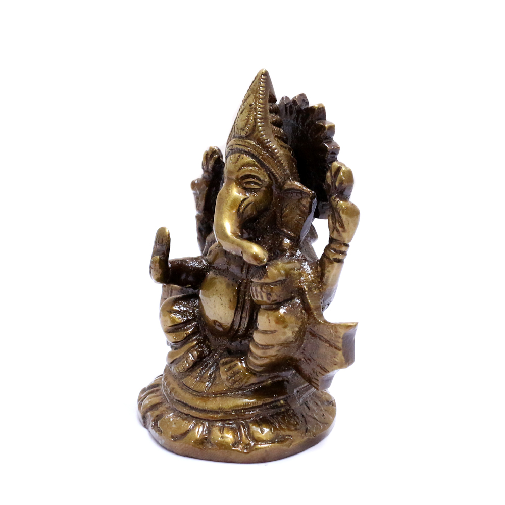 Ganesh Idol Made Of Brass For Prosperity - Boontoon brass ganesh9