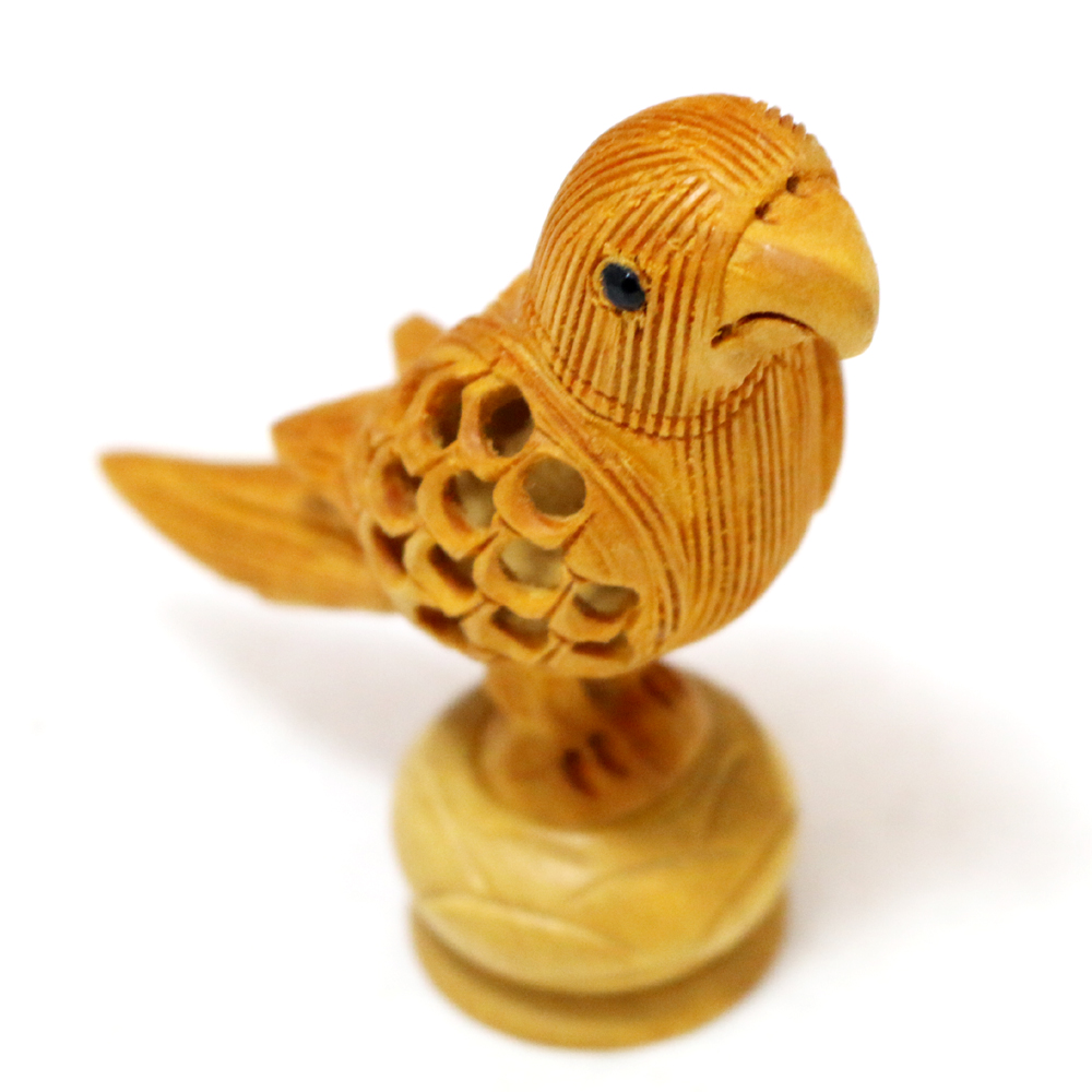 Critically Carved Wooden Parrot - Boontoon Designer Parrot Bird Made Of Wood1