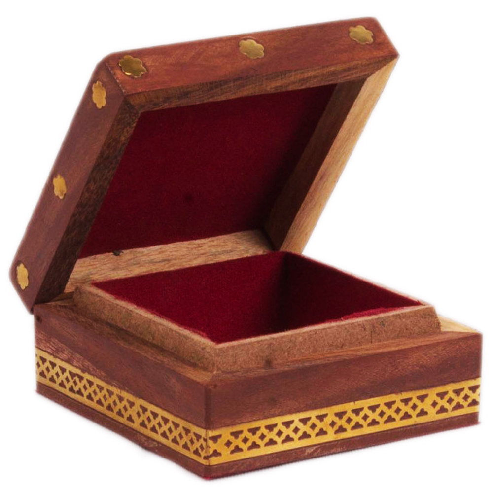 Appealing Gemstone Square shaped Box for Multipurpose Use - Gemstone Square shaped Box