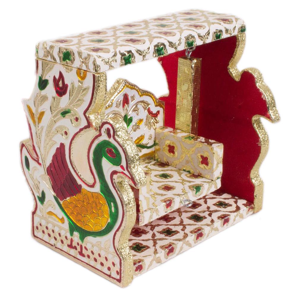 Wooden Meenakari Designed Swing from Rajasthan - Meenakari Designed Swing