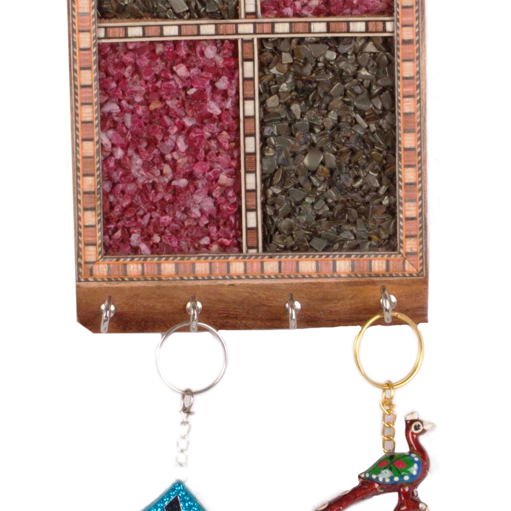 Multicoloured Gem stone Key holder  - Gem stone Key holder