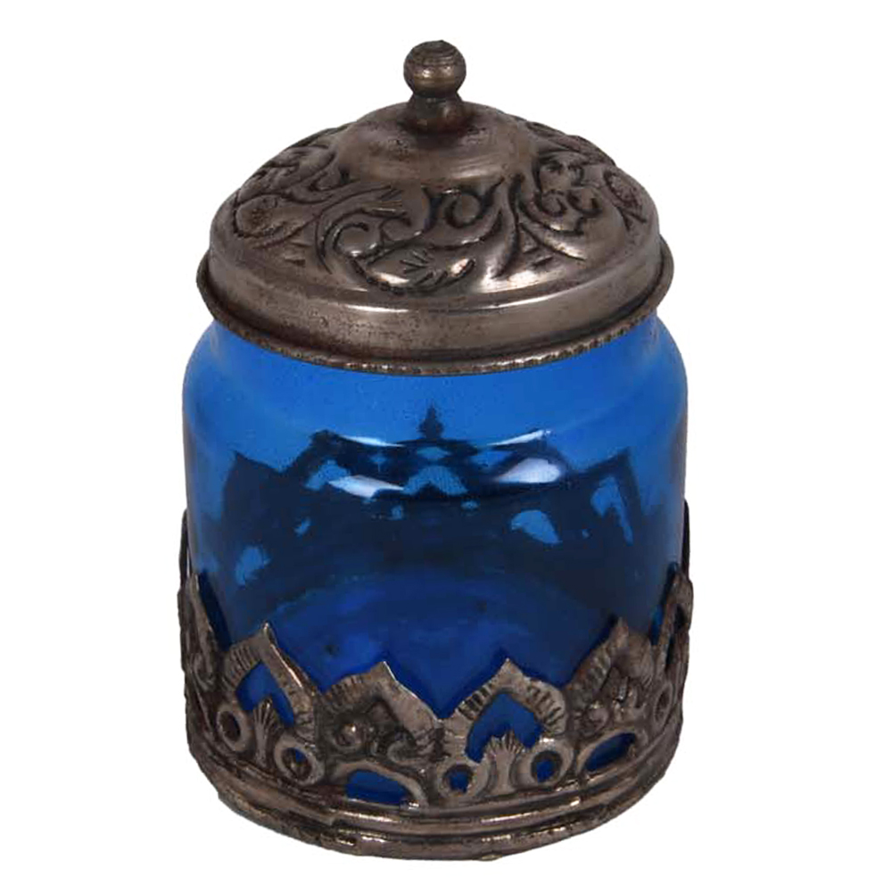 Blue coloured Oxidised Glass Barni for Your Dream Kitchen - Oxidised Glass Barni