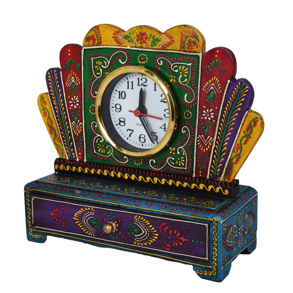 Wooden Multicolor Drawer With Watch-Add Style To Your Lifestyle - wooden wath with drawer