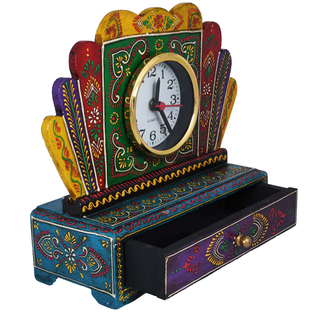 Wooden Multicolor Drawer With Watch-Add Style To Your Lifestyle - wooden watch with drawer for return gifts