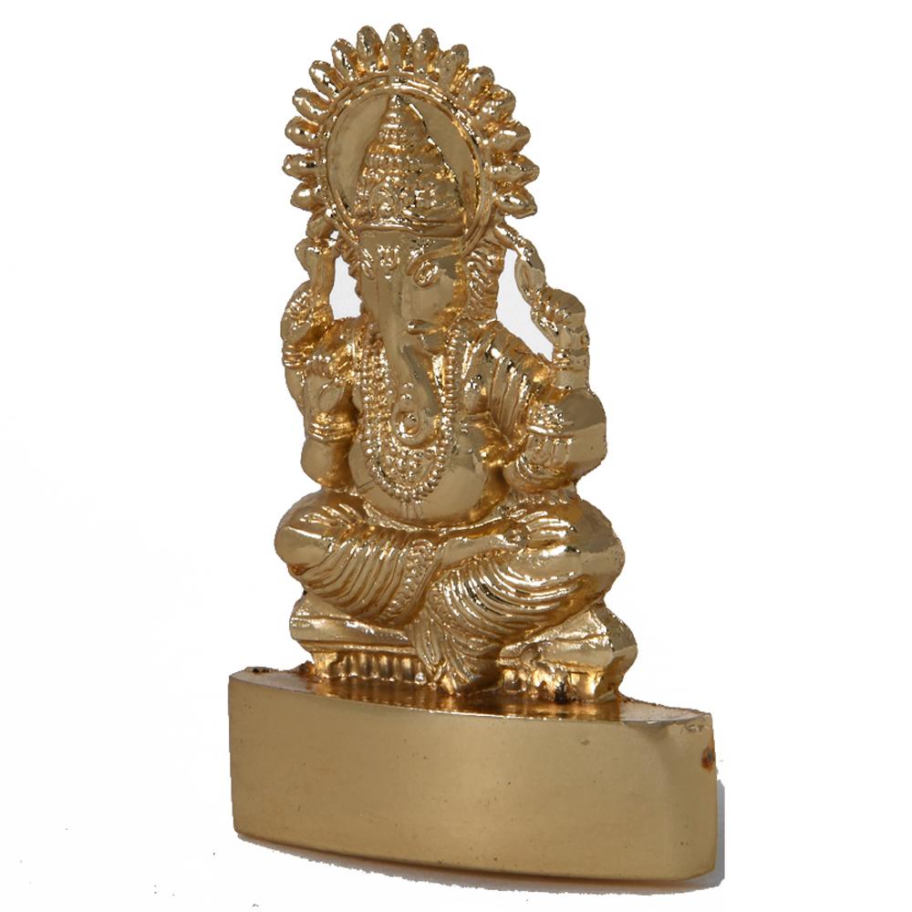 An elegant brass Lord Ganesh statue - ganesha