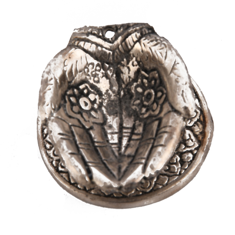 A hand shaped diya made from the best quality oxidised metal - hand shaped diya made of oxidised for return gifts