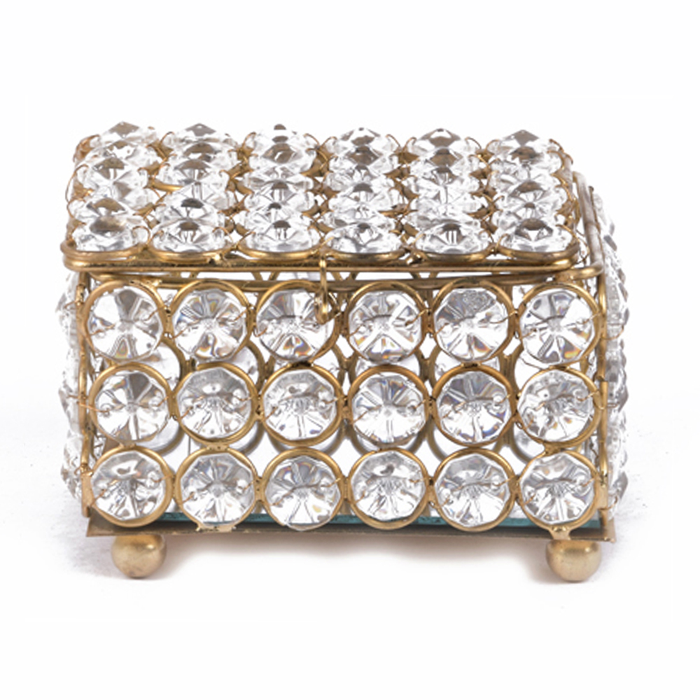 Metal and Crystal Box For Sale for your Posh Home Décor - Metal and Crystal Box