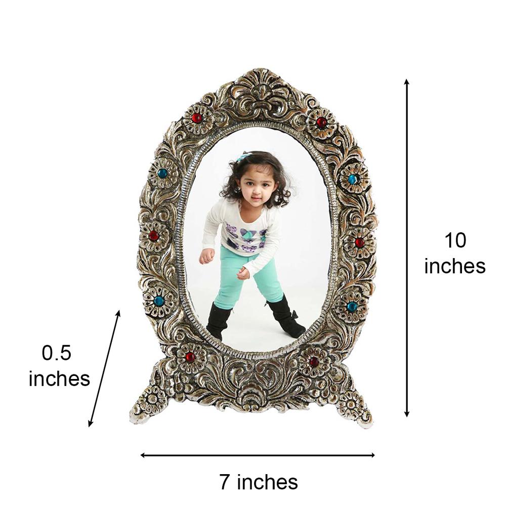 The Antique Finish White Metal Splendid Photo Frame To Adorn Your Photos - Antique white metal photo frame