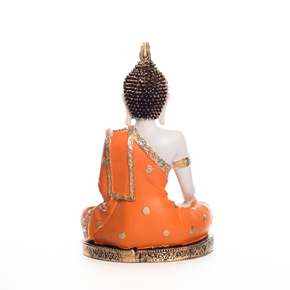 Fiber Meditating Buddha - Orange For Your Pious Home - Orange meditating buddha
