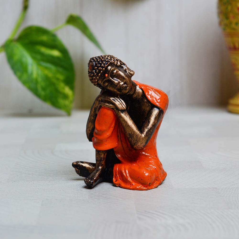 Polyresin Resting Buddha On Knee- Signifying Peace And Tranquility - Poluresin buddha