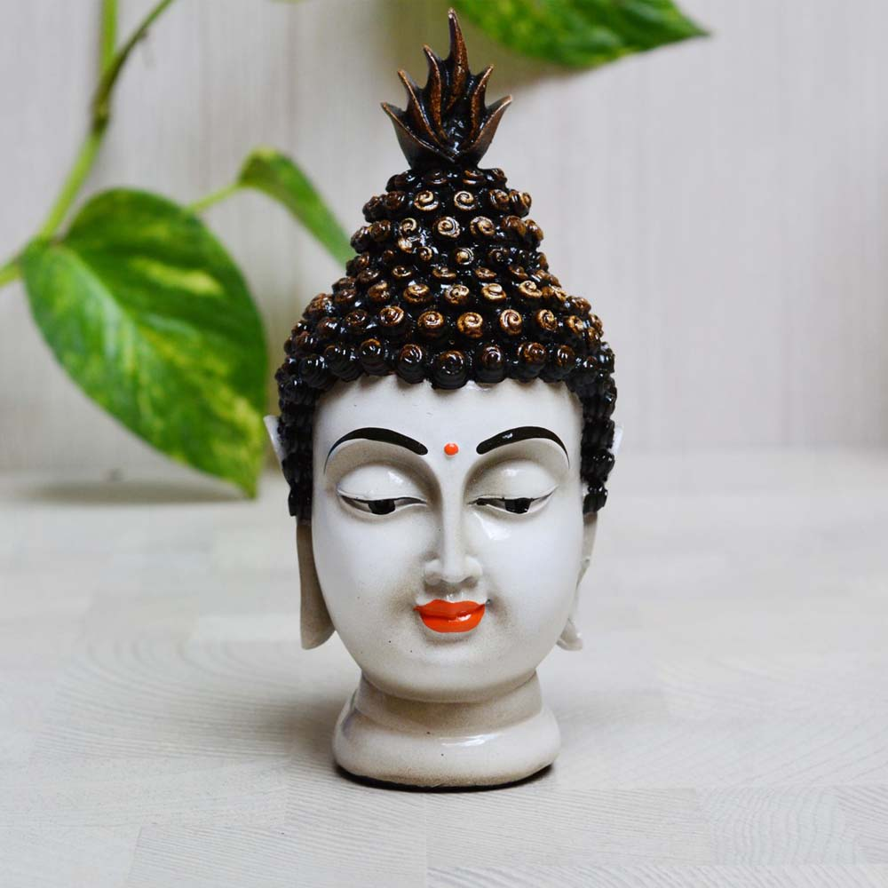 The Polyresin Meditating Buddha Head For Your Sweet Home - Polyresin meditating buddha head