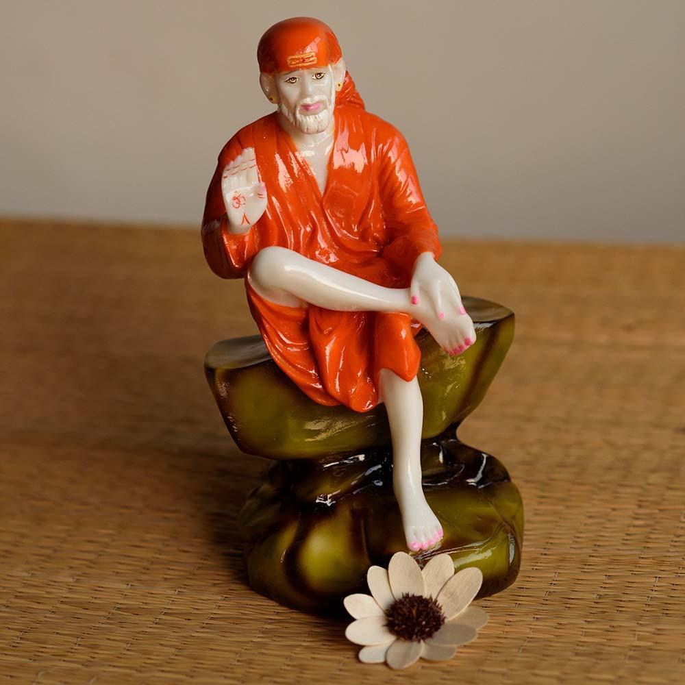 High Quality Divine Sai Baba Polyresin Figurine - Sai baba polyresin figurine