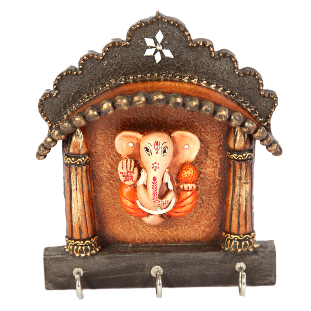 Rajasthani Jharokha Based Lord Ganesha Key Holder For Wall