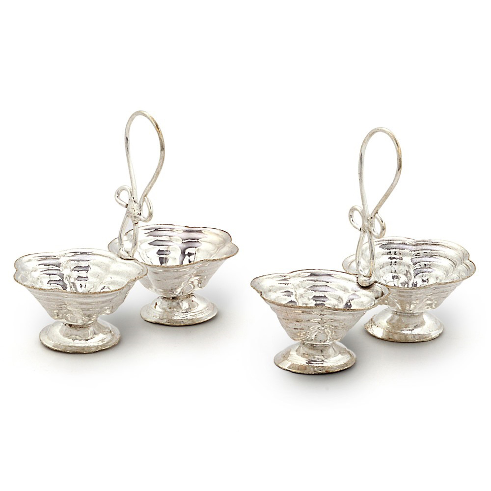 German silver roli chawal pair