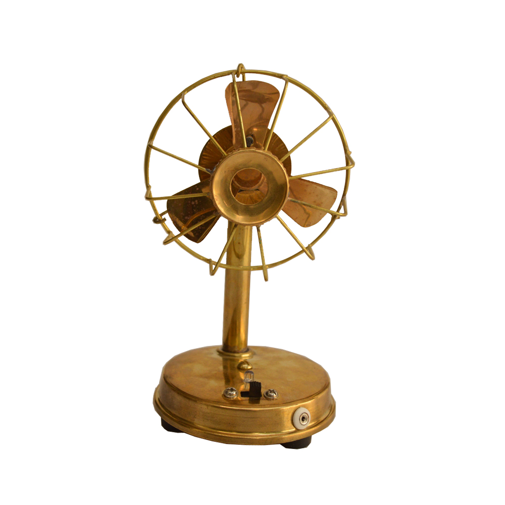 Handcrafted Decorative Antique Brass Fan For Home Decor