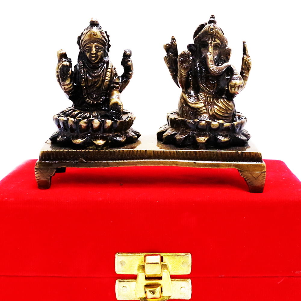 Lakshmi Ganesh Brass Made Showpiece