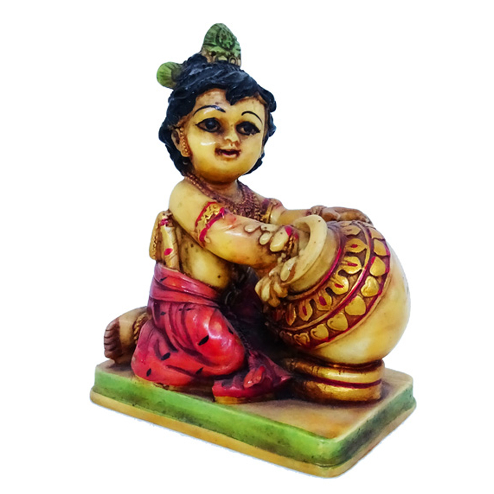 Little Kanha Showpiece Made Of Soft Marble