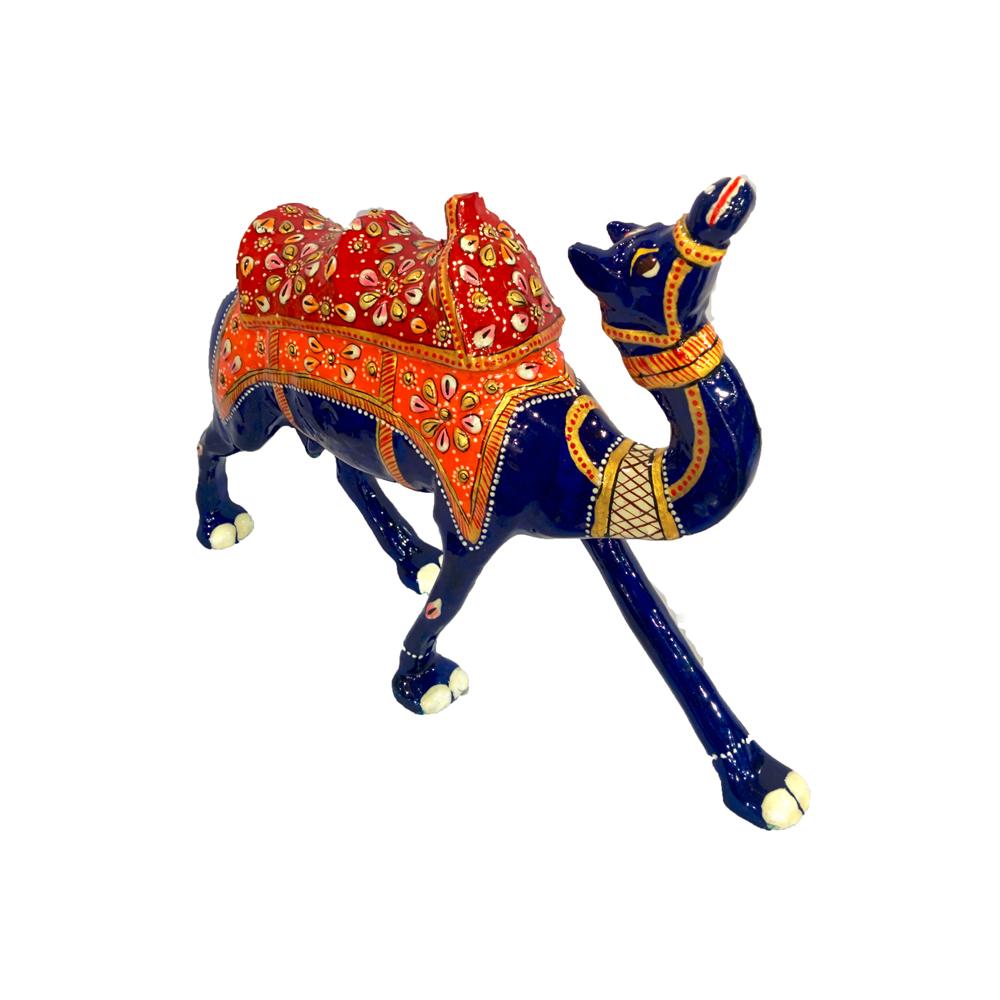 Meenakari metal blue camel