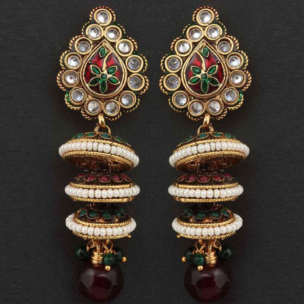 Multicolour bead earrings