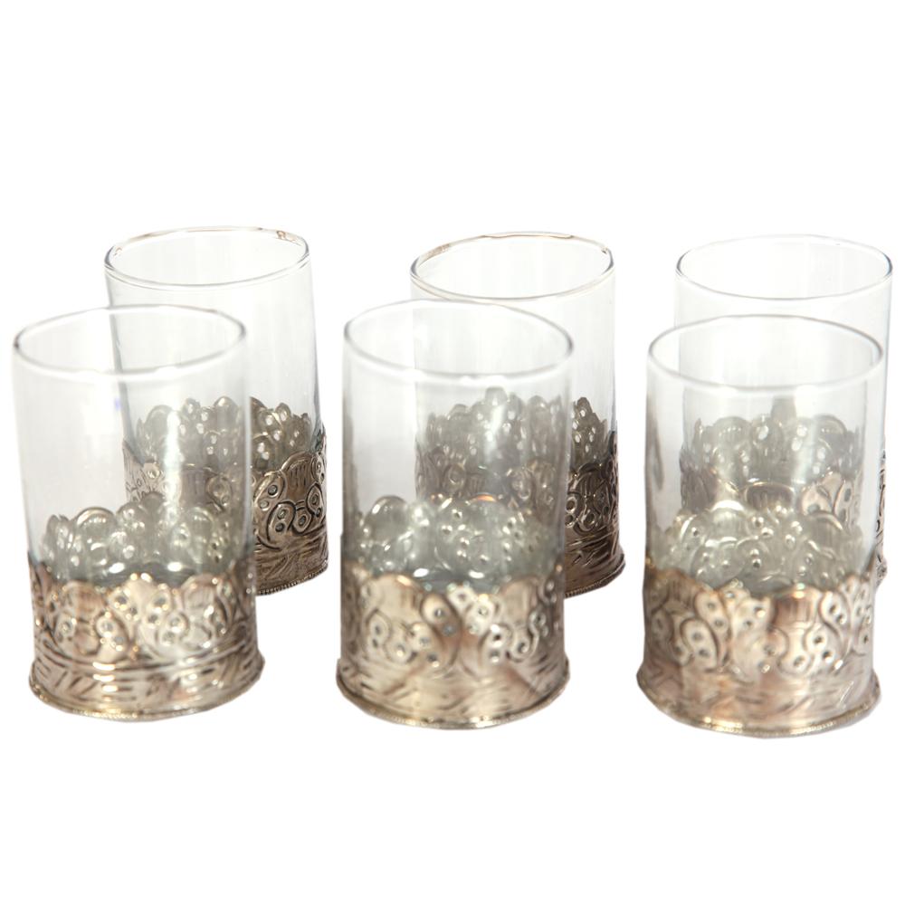 Oxidized 6 Piece Glass Set For Wedding Gift
