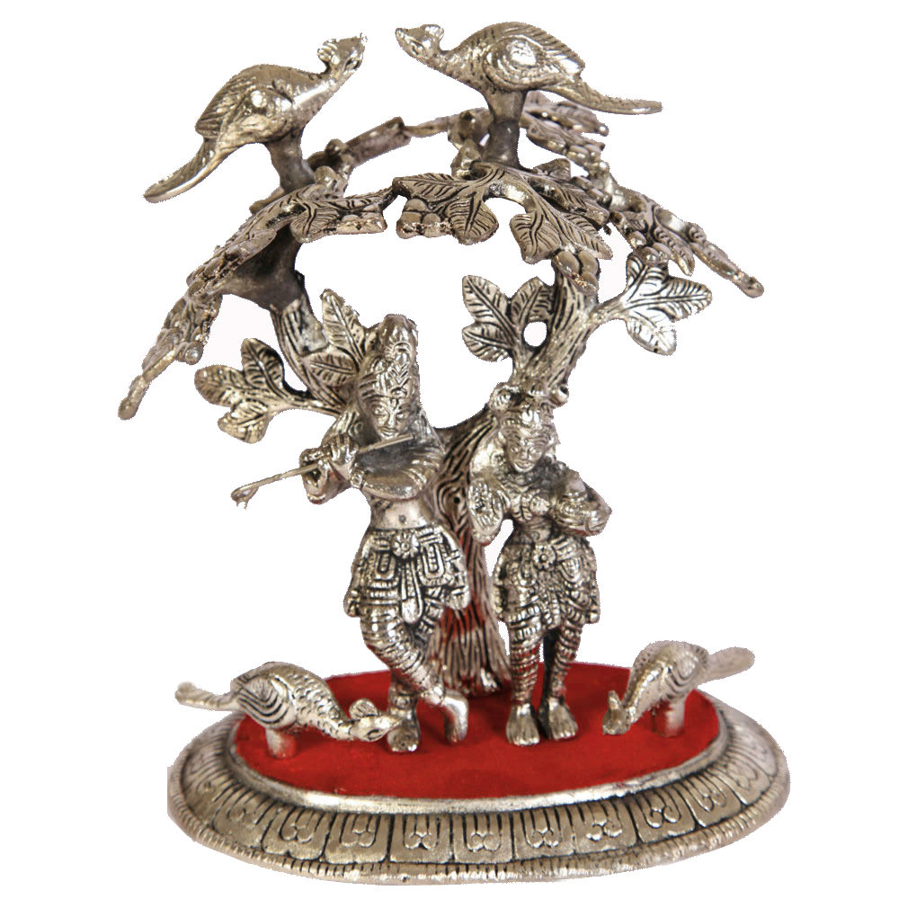 Oxidized Handicrafts Radha Krishna Under Kadamba Tree Online