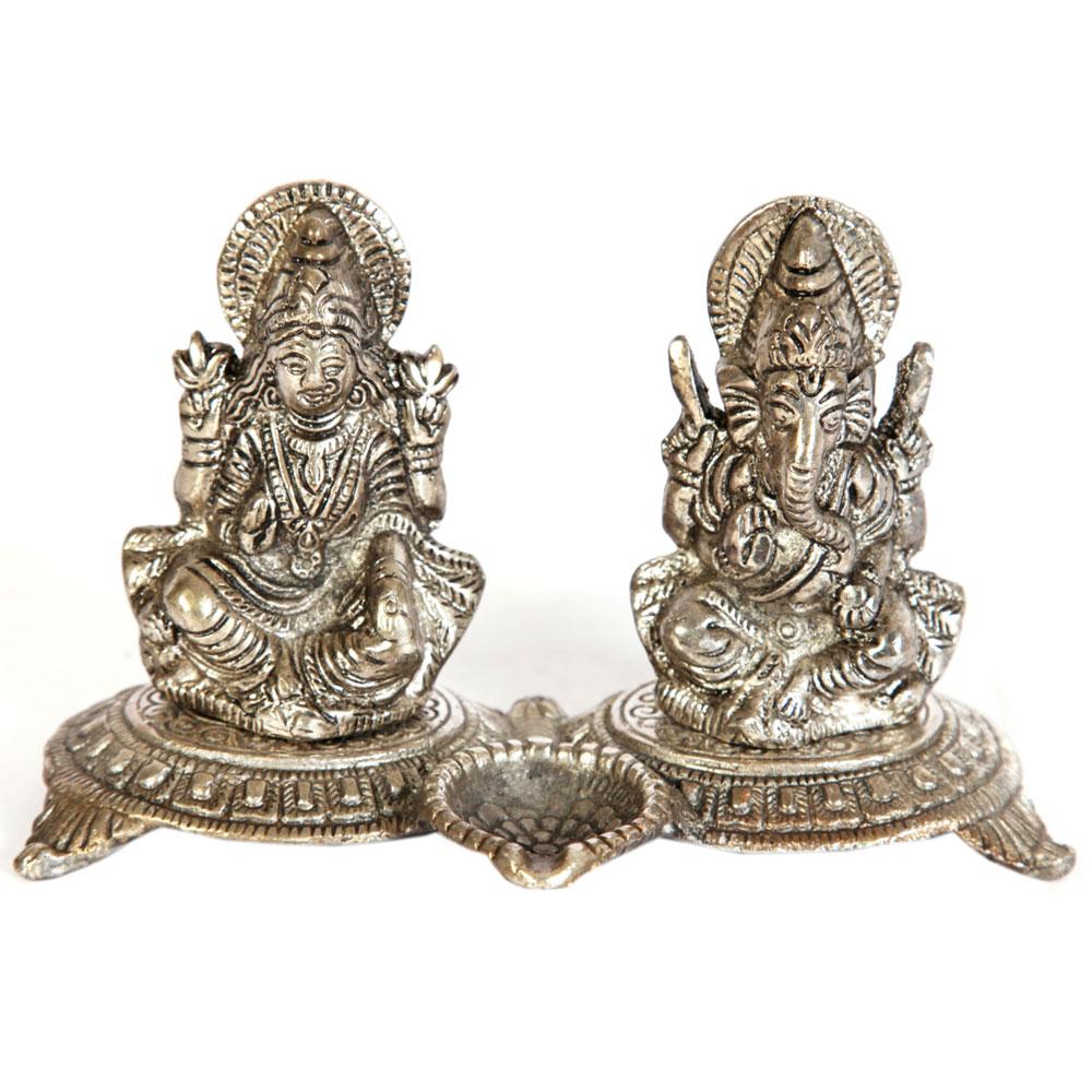 Oxidised metal Ganesh and Laxmi set