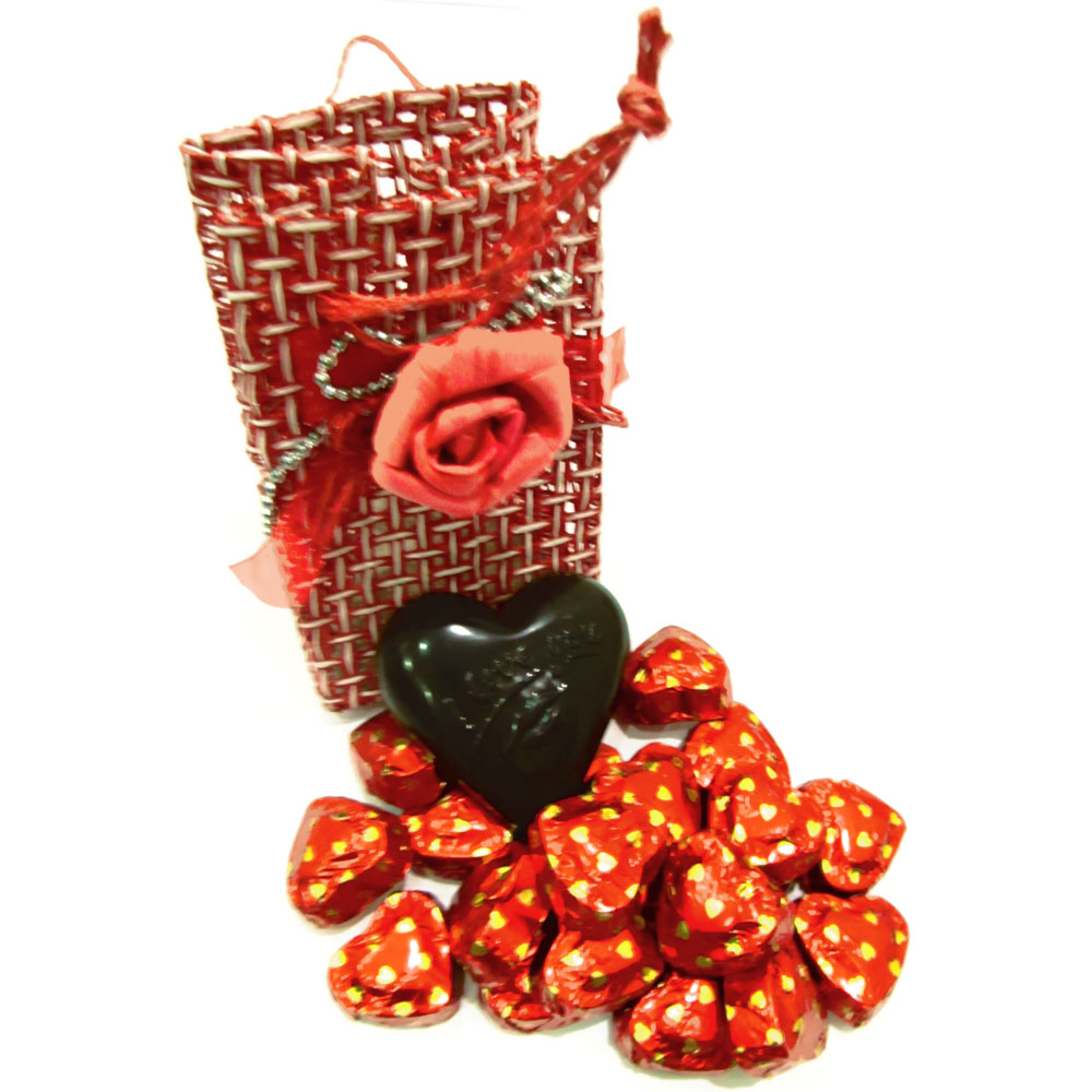 Red cane chocolate pouch